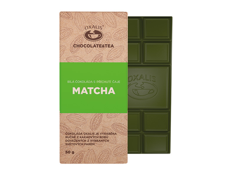 Matcha - bílá čokoláda OXALIS